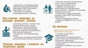 Какие документы требуются для получения налогового вычета