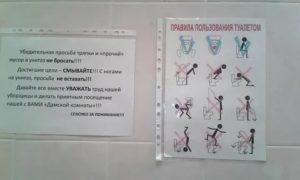 Правила пользования общественным туалетом