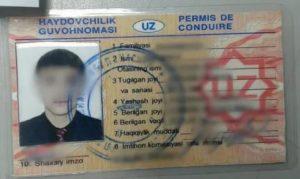 Как проверить узбекские права на подлинность