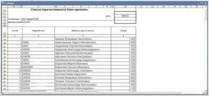 Реестры зачислений зарплаты в разные банки