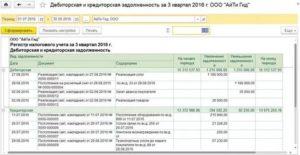 Отчеты по дебиторской задолженности в 1с 8 3