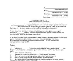 Исковое заявление о взыскании денежных средств за неоказанные услуги арбитраж