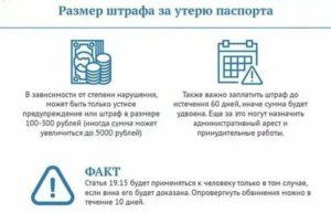 Взимается ли штраф за кражу паспорта
