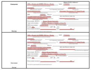 Образец заполнения бланка госпошлины за получение загранпаспорта