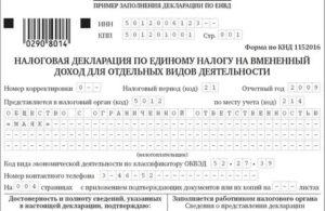Заполнение декларации енвд 2020 для ип без работников онлайн