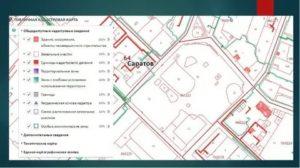 Какие объекты капитального строительства обозначены красным на публичной кадастровой карте
