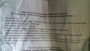 Омск документы на подачу рвп