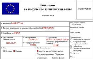 Заполнение анкеты на шенгенскую визу для ребенка до 18 лет