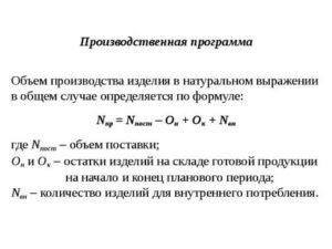 Как рассчитать объем производства