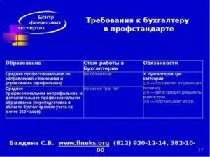 Требования к бухгалтеру по кадрам