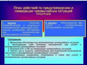 План по предупреждению чс в организации